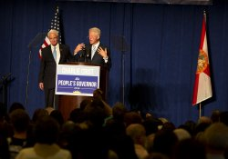 Former President Clinton and Candidate Charlie Crist in Miami Florida