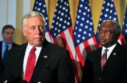 House Majority Leader Steny Hoyer speaks on the Democratic leadership for the 112th Congress in Washington