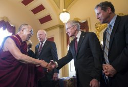 The Dalai Lama Meets with Senators in Washington, D.C.