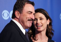 Actors Bridget Moynahan and Tom Selleck arrive at the 2010 CBS Up Front at Lincoln Center in New York