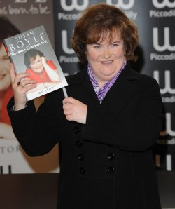 Susan Boyle attends a booksigning in London