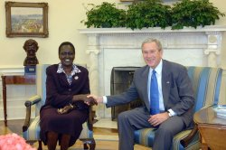 BUSH MEETS WITH SOUTH SUDAN'S TRANSPORTATION MINISTER