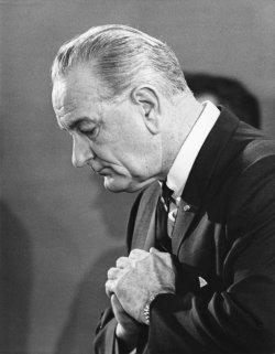 President Johnson holds press conference on Vietnam