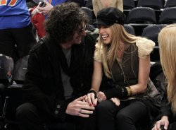 Howard Stern and Beth Ostrosky at Madison Square Garden in New York