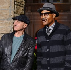 """Patrick Stewart and Michael Dorn attend """"Jack the Giant Slayer"""" premiere in Los Angeles"""