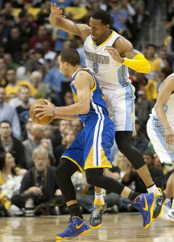 NBA First Round Playoffs Game Five Golden State Warriors vs Denver Nuggets in Denver