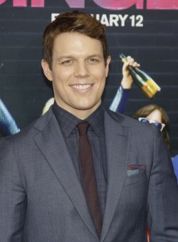 Jake Lacy arrives at Premiere of How To Be Single