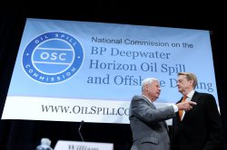 William Reilly and Bob Graham Chairmen of the National Commission on the BP Deepwater Horizon Oil Spill in Washington