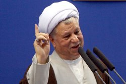 Chairman of the Experts Assembly Ali Akbar Hashemi Rafsanjani speaks in Friday Prayer