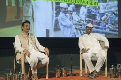 Two representatives of the Lunchbox Legends: The Dabbawalas of Mumbai travel to Vancouver for the first time to share their story at the 2014 Indian Summer Festival