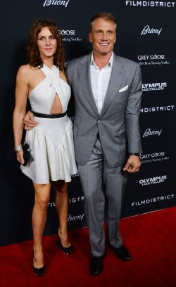 "Dolph Lundgren attends the ""Olympus Has Fallen"" premiere in Los Angeles"