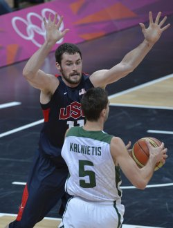 USA-Lithuania men's basketball at 2012 Summer Olympics in London