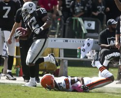 Raiders Jacoby Ford scores 101 yard TD in Oakland, California