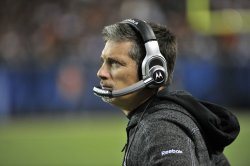 Lions coach Schwartz stands on sidelines against Bears in Chicago