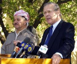 RUMSFELD VISITS IRAQ