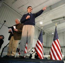 Romney Campaigns in Cedar Rapids, Iowa