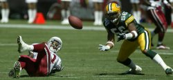 GREEN BAY PACKERS AT ARIZONA CARDINALS