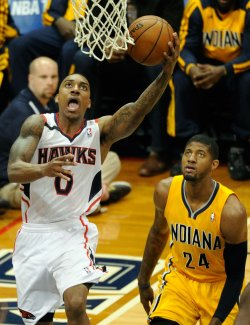 The Atlanta Hawks play the Indiana Pacers in Game 4 of the NBA playoffs