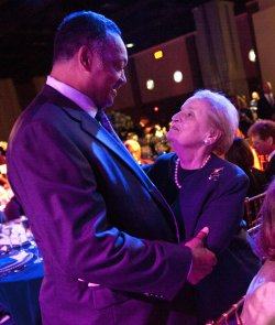 Jesse Jackson and Madeleine Albright attend the Honoring Global Leaders for Peace gala in Washington