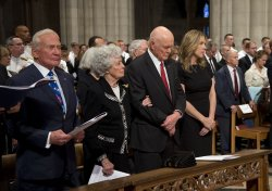 Memorial for Neil Armstrong at National Cathedral in Washington