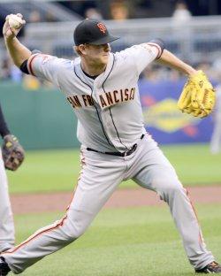 Giants Starting Pitcher Matt Cain in Pittsburgh