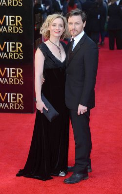 """Anne-Marie Duff and James McAvoy attends """"The Olivier Awards 2012"""" in London"""