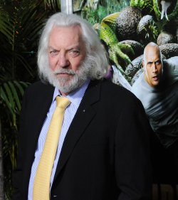 "Donald Sutherland attends the ""Journey 2: The Mysterious Island"" premiere in Los Angeles"