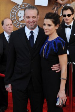 Sandra Bullock and Jesse James arrive at the 16th Screen Actors Guild Awards in Los Angeles