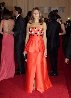 Eva Mendes at the Costume Institute Gala Benefit in New York