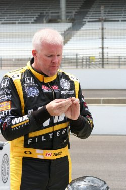 Paul Tracy Looking for Speed at the Indianapolis Motor Speedway, in Indianapolis, Indiana.