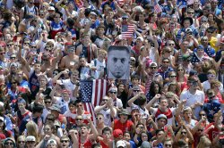 Fans Watch United States Play Belgium in the World Cup in Chicago