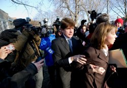 Blagojevich leaves for sentencing hearing in Chicago