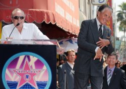 Actor George Hamilton receives star on Hollywood Walk of Fame in Los Angeles