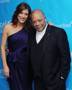 Kate Walsh and Quincy Jones attend the UNICEF Ball in Beverly Hills, California