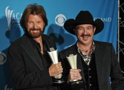 Brooks and Dunn win Duo of the Year at the ACM Awards in Las Vegas