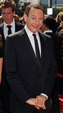 Paul Reubens arrives at the Primetime Creative Arts Emmy Awards in Los Angeles