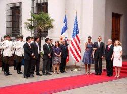 U.S. President Barack Obama arrives in Santiago
