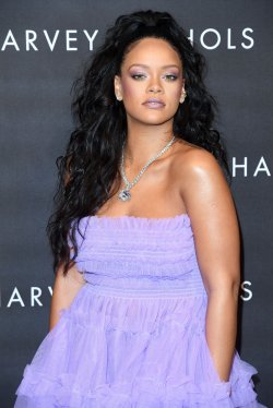 Rihanna attends the Rihanna Fenty Beauty collection launch in London