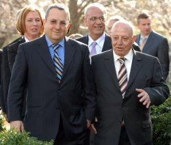 Bush, Olmert, Abbas speak to media after meeting at White House