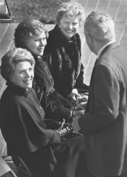 First Ladies attend Bess Truman's funeral in Independence, MO