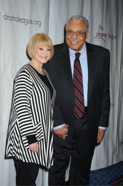 Jams Earl Jones and wife Cecilia Hart arrives for the Drama League Awards Ceremony and Luncheon