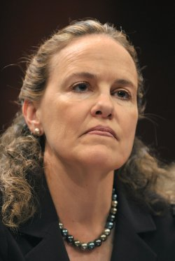 Defense Undersecretary for Policy Michele Flournoy testifies on the missile defense shield in Washington
