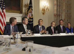 Obama Meets with Climate Task Force at the White House