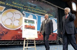 Iranian Minister of Oil Masoud Mir Kazemi attends the 50th anniversary of OPEC in Iran