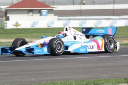 Indy winner Tony Kanaan practices for inaugural Grand Prix of Indianapolis event at the Indianapolis Motor Speedway