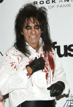 Alice Cooper is inducted into the Rock and Roll Hall of Fame induction ceremony in New York