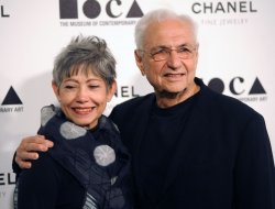 Frank Gehry and wife Berta arrive at the Museum of Contemporary Art annual gala in Los Angeles