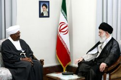 Sudan's President Omar Hassan al-Bashir meets with Iran's Supreme Leader in Tehran