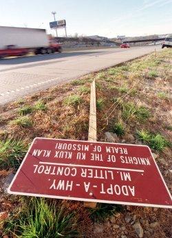 """KKK """"Adopt-A-Highway"""" sign vandalized"""