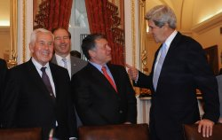 King Abdullah II of Jordan meets with Senators in Washington